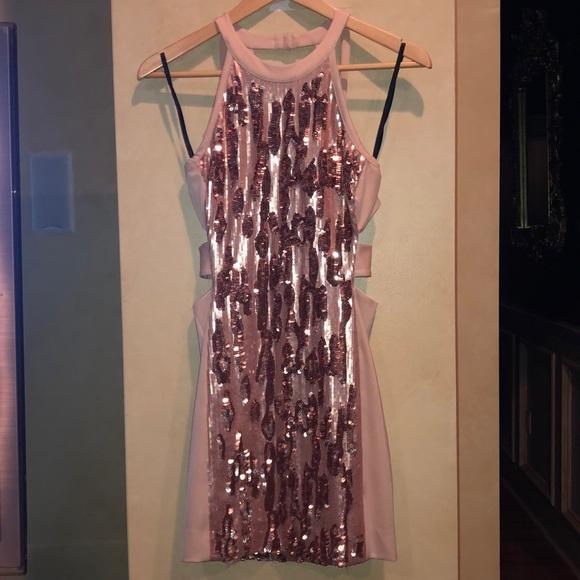 bebe Dresses & Skirts - Bebe pink sequence dress size S
